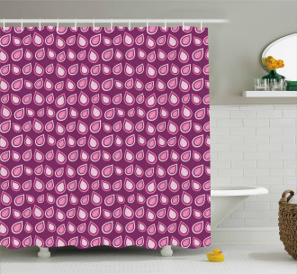 Heart Like Leaves Swirls Shower Curtain