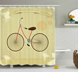 Postcard of Retro Bike Shower Curtain