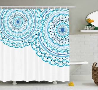 Wedding Invitation Lace Shower Curtain