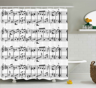 Notes on the Clef Shower Curtain