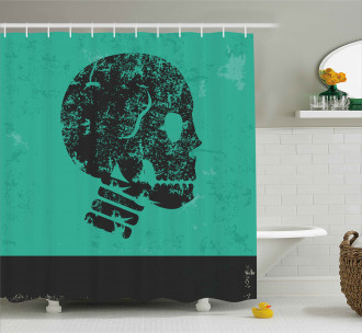 Abstract Human Skeleton Shower Curtain