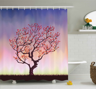 Sunset Rise Morning Scene Shower Curtain