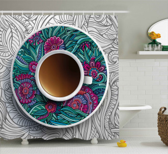 Coffee and Herbal Tea Shower Curtain