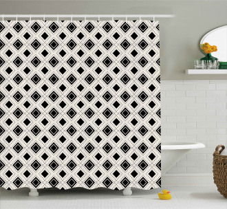 Triangles Squares Shower Curtain