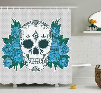 Oriental Paisley Details Shower Curtain
