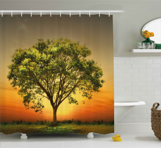 Sunset Scenery Valley Shower Curtain