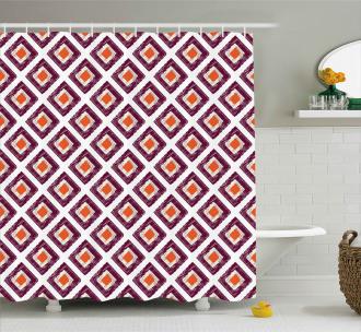 Triangles Artwork Print Shower Curtain