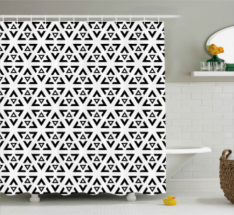 Modern Triangle Shower Curtain