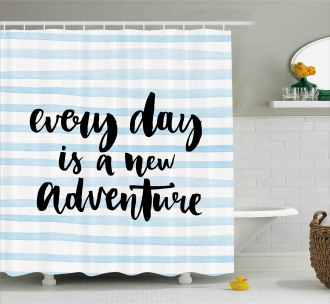 Adventure Text Shower Curtain