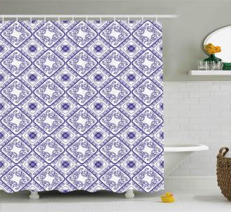 Art and Craft Flower Shower Curtain