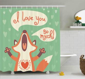 Fox Humor Romance Shower Curtain