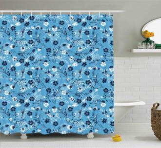 Shabby Chic Petals Shower Curtain