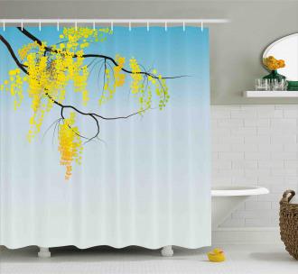 Flowers Bud Blossom Artwork Shower Curtain