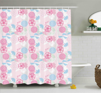 Flowers Ivy Leaves Buds Shower Curtain