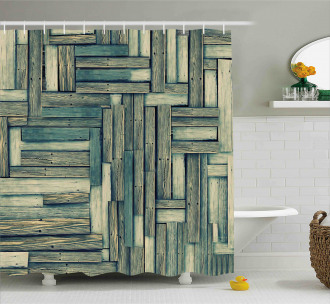 Old Vintage Classic Deck Shower Curtain
