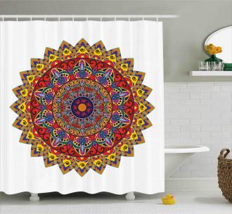 Asian Hippie Bohem Shower Curtain