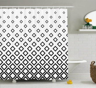 Square Pattern Art Shower Curtain