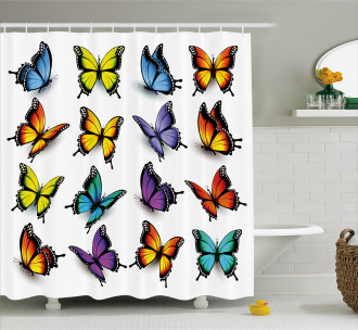 Colorful Wings Spring Shower Curtain