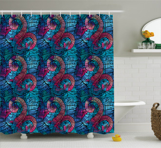 Mosaic Shell Swirls Shower Curtain