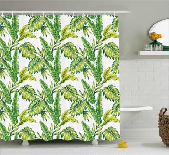 Bamboo Palms Foliage Shower Curtain