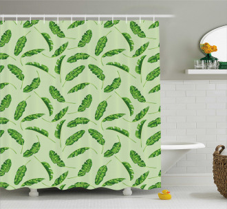 Oceanic Climate Palms Shower Curtain