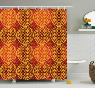 Flower Medieval Tones Shower Curtain