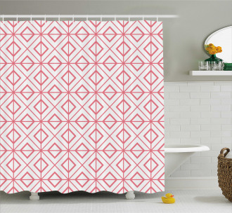 Vintage Triangles Shower Curtain