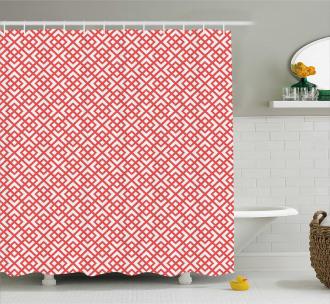 Horizontal Image with Diamond Shower Curtain