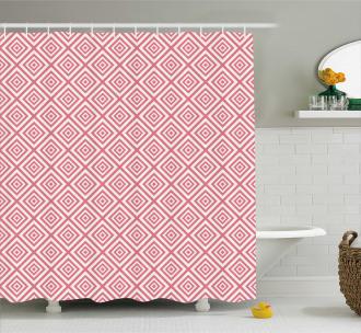 Mosaic Square Shapes Tile Shower Curtain