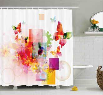 Natural Flowers Shower Curtain