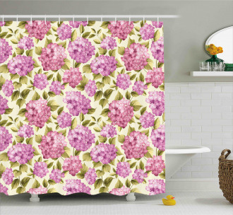 Flower with Leaves Shower Curtain