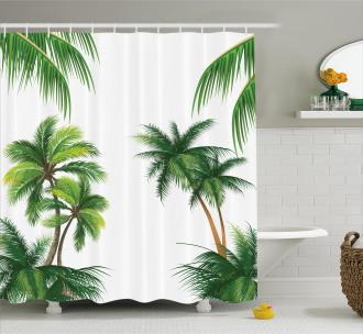 Coconut Palm Tree Plants Shower Curtain