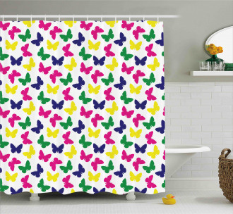 Romantic Butterfly Kids Shower Curtain