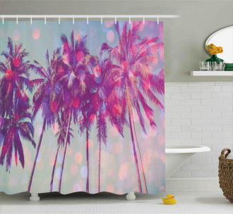 Hawaiian Tropic Palms Shower Curtain