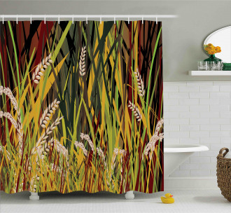 Plant Forest Farm Leaves Shower Curtain