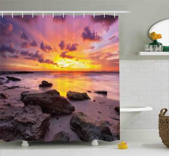 Sunset Idyllic Beach Shower Curtain