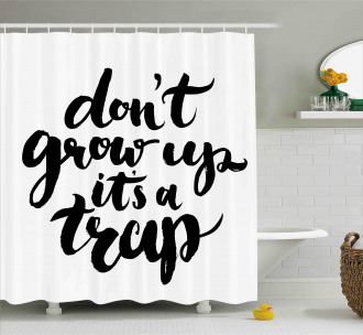 Motivational Life Letters Shower Curtain
