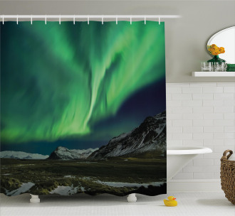 Polaris Mountain Shower Curtain