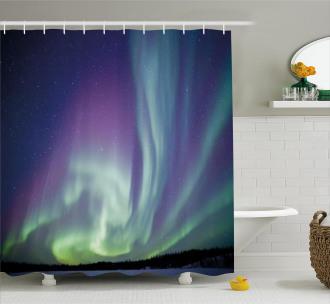 Solar Sky Stars Shower Curtain