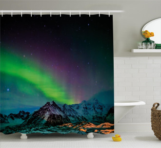 Sky Rocky Hill Wild Shower Curtain