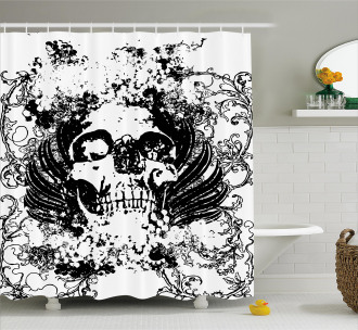 Dark Horror Scary Skull Shower Curtain