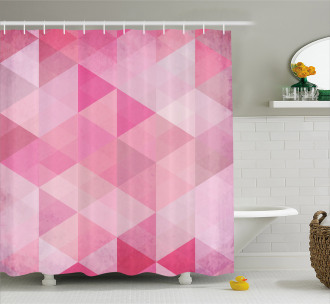 Abstract Vintage Triangles Shower Curtain