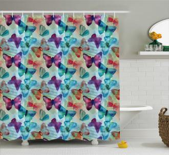 Butterflies Letterings Shower Curtain