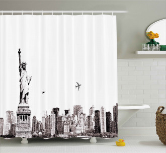 Cityscape of New York Shower Curtain