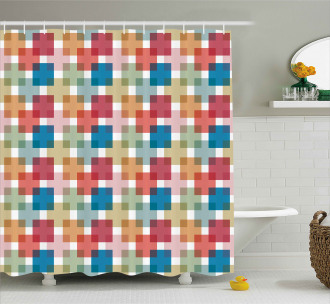 Wall or Floor Squares Shower Curtain