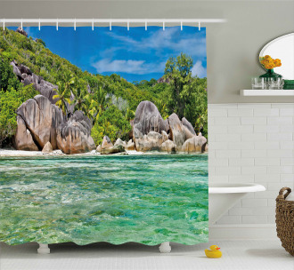 Scenery of Island Tree Shower Curtain