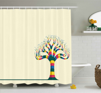 Colorful Tree and the Leaf Shower Curtain