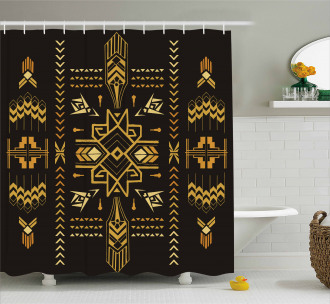 Tribal Vintage Aztec Shower Curtain