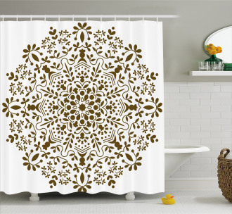 Abstract Vector Floral Shower Curtain