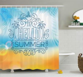 Abstract Sunny Seashore Shower Curtain